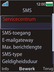 Sony W595 - SMS - Handmatig instellen - Stap 6