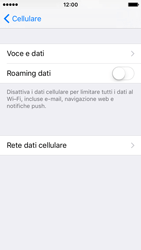 Apple iPhone SE - Internet e roaming dati - Disattivazione del roaming dati - Fase 6