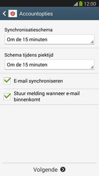 Samsung N9005 Galaxy Note III LTE - E-mail - Account instellen (IMAP zonder SMTP-verificatie) - Stap 17