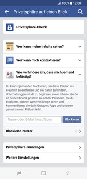 Samsung Galaxy S8 - Datenschutz und Sicherheit - Datenschutzeinstellungen von Facebook ändern - 0 / 0