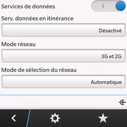 BlackBerry Q10 - Internet et roaming de données - Désactivation du roaming de données - Étape 8