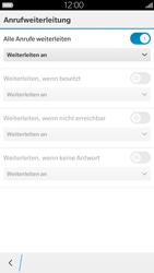 BlackBerry Leap - Anrufe - Rufumleitungen setzen und löschen - 8 / 13