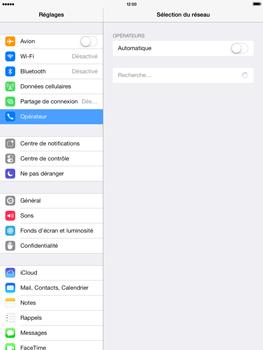 Apple iPad Air - Réseau - Sélection manuelle du réseau - Étape 5