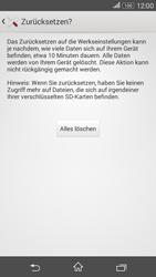 Sony Xperia E4G - Fehlerbehebung - Handy zurücksetzen - 2 / 2