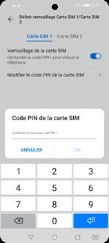 Huawei P Smart 2021 - Sécuriser votre mobile - Personnaliser le code PIN de votre carte SIM - Étape 13