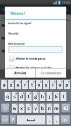 LG Optimus F6 - Internet et connexion - Accéder au réseau Wi-Fi - Étape 7