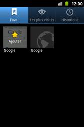 Samsung S7500 Galaxy Ace Plus - Internet - Navigation sur Internet - Étape 7