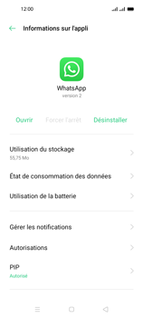 Oppo A53s - Applications - Supprimer une application - Étape 7