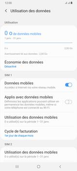 Samsung Galaxy A70 - Internet et roaming de données - Comment vérifier que la connexion des données est activée - Étape 7