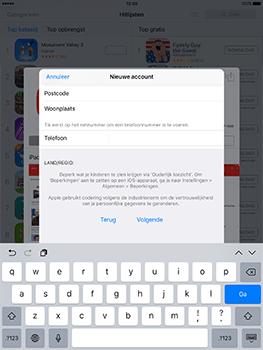 Apple iPad 9.7 (Model A1823) - Applicaties - Account aanmaken - Stap 22