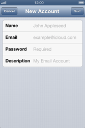 Apple iPhone 4S - E-mail - Manual configuration - Step 7