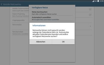Samsung T535 Galaxy Tab 4 10.1 - Netzwerk - Manuelle Netzwerkwahl - Schritt 7