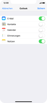 Apple iPhone X - E-Mail - Konto einrichten (outlook) - Schritt 9