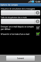 Samsung S5830 Galaxy Ace - E-mail - Configurer l
