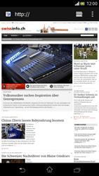 Sony Xperia V - Internet und Datenroaming - Verwenden des Internets - Schritt 17