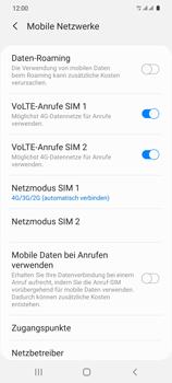 Samsung Galaxy S20 5G - Netzwerk - So aktivieren Sie eine 4G-Verbindung - Schritt 8