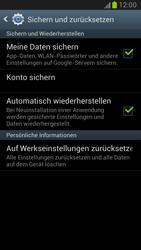Samsung Galaxy Note II - Gerät - Zurücksetzen auf die Werkseinstellungen - Schritt 5