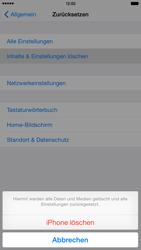 Apple iPhone 6 Plus iOS 8 - Gerät - Zurücksetzen auf die Werkseinstellungen - Schritt 7