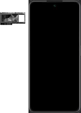 Huawei P Smart 2021 - Premiers pas - Insérer la carte SIM - Étape 3