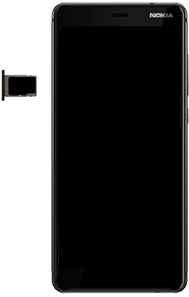 Nokia 5.1 - Toestel - simkaart plaatsen - Stap 9