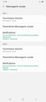 Samsung Galaxy A70 - Messagerie vocale - configuration manuelle - Étape 8