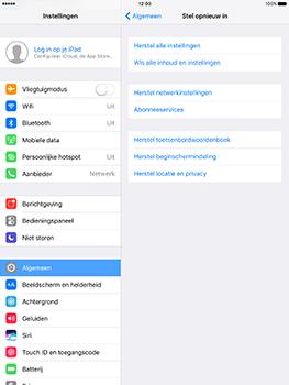 Apple iPad 9.7 (Model A1823) - Instellingen aanpassen - Fabrieksinstellingen terugzetten - Stap 4