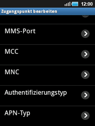 Samsung Galaxy Mini - MMS - Manuelle Konfiguration - 0 / 0