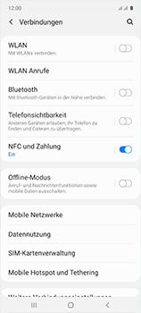 Samsung Galaxy A51 - Internet und Datenroaming - Prüfen, ob Datenkonnektivität aktiviert ist - Schritt 5