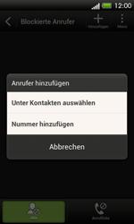 HTC C525u One SV - Anrufe - Anrufe blockieren - Schritt 8