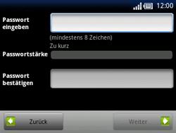 Sony Ericsson Xperia X10 Mini Pro - Apps - Konto anlegen und einrichten - 9 / 19