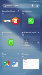 Samsung Galaxy A5 (2017) - Android Nougat - Operazioni iniziali - Installazione di widget e applicazioni nella schermata iniziale - Fase 5