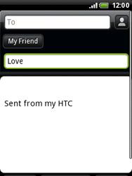 HTC A3333 Wildfire - E-mail - Sending emails - Step 7