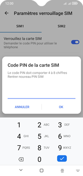 Alcatel 1S (2020) - Sécuriser votre mobile - Personnaliser le code PIN de votre carte SIM - Étape 13