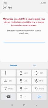 Samsung Galaxy A71 - Sécuriser votre mobile - Activer le code de verrouillage - Étape 9