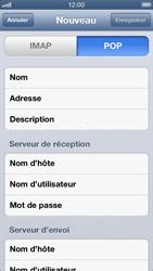 Apple iPhone 5 - E-mail - Configuration manuelle - Étape 14
