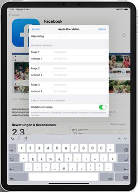 Apple iPad 9.7 (2017) - iPadOS 13 - Apps - Einrichten des App Stores - Schritt 14