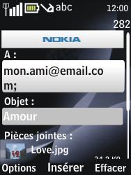 Nokia 6700 classic - E-mail - envoyer un e-mail - Étape 12