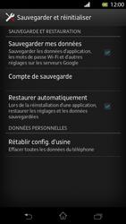 Sony Xperia T - Téléphone mobile - Réinitialisation de la configuration d