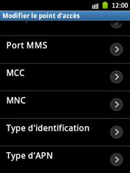 Samsung S5300 Galaxy Pocket - MMS - Configuration manuelle - Étape 13