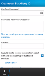 BlackBerry Z10 - Applications - Setting up the application store - Step 11