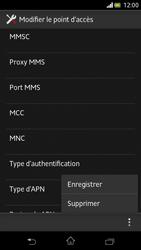 Sony Xperia V - Internet et roaming de données - Configuration manuelle - Étape 15