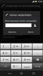 Sony Xperia Z - Anrufe - Rufumleitungen setzen und löschen - Schritt 7