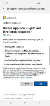 Samsung Galaxy S10 Plus - E-Mail - 032c. Email wizard - Outlook - Schritt 9