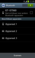 Samsung S7560 Galaxy Trend - Bluetooth - Koppelen met ander apparaat - Stap 6