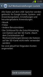 Samsung Galaxy S III LTE - Gerät - Zurücksetzen auf die Werkseinstellungen - Schritt 6