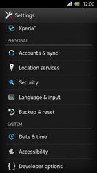 Sony Xperia U - Mobile phone - Resetting to factory settings - Step 4