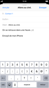Apple iPhone 8 Plus - iOS 12 - E-mail - envoyer un e-mail - Étape 7