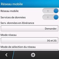 BlackBerry Q10 - Internet et connexion - Activer la 4G - Étape 6