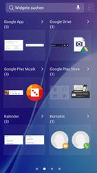 Samsung Galaxy A5 (2016) - Android Nougat - Startanleitung - Installieren von Widgets und Apps auf der Startseite - Schritt 4