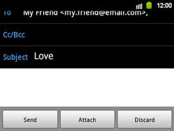Samsung B5510 Galaxy TXT - E-mail - Sending emails - Step 9